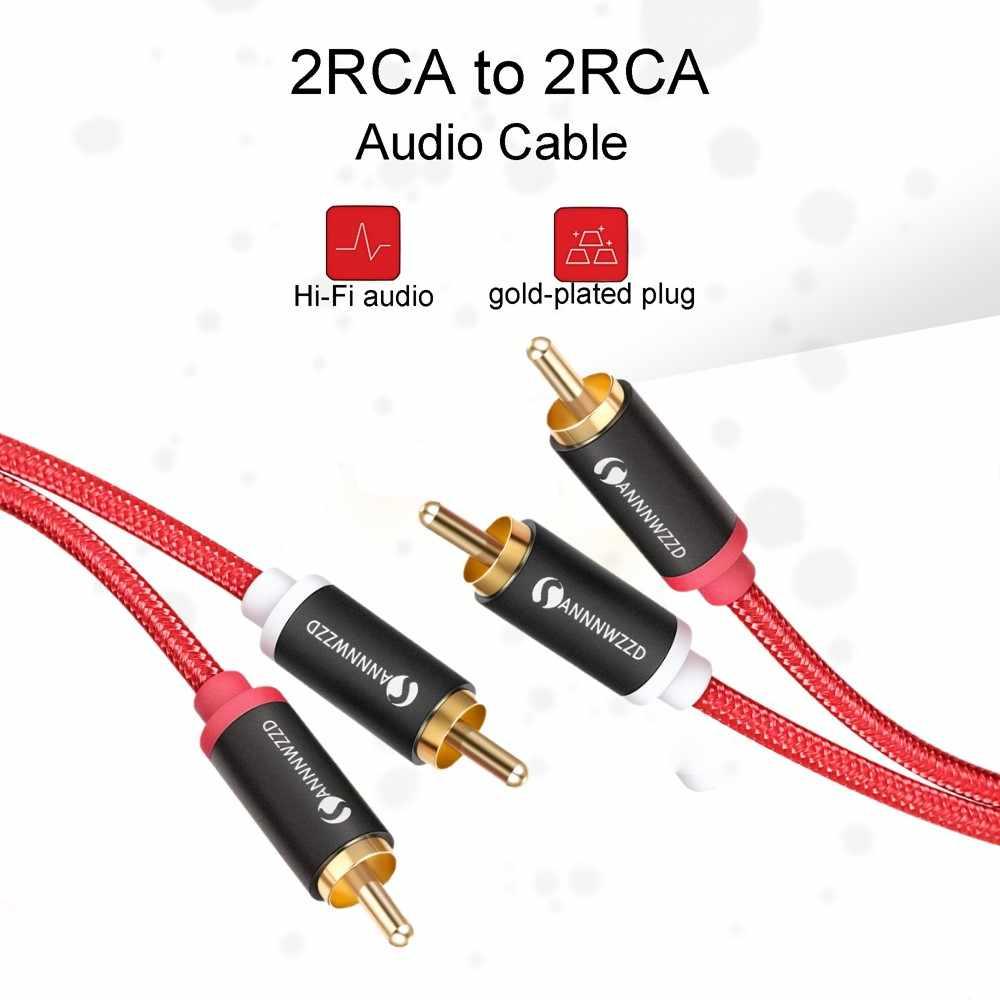 2RCA a 2 RCA Maschio a Maschio Cavo Audio Gold-Plated RCA Audio Cavo 2m 3m 5m per il Teatro Domestico DVD TV CD Amplificatore Cassa di Risonanza