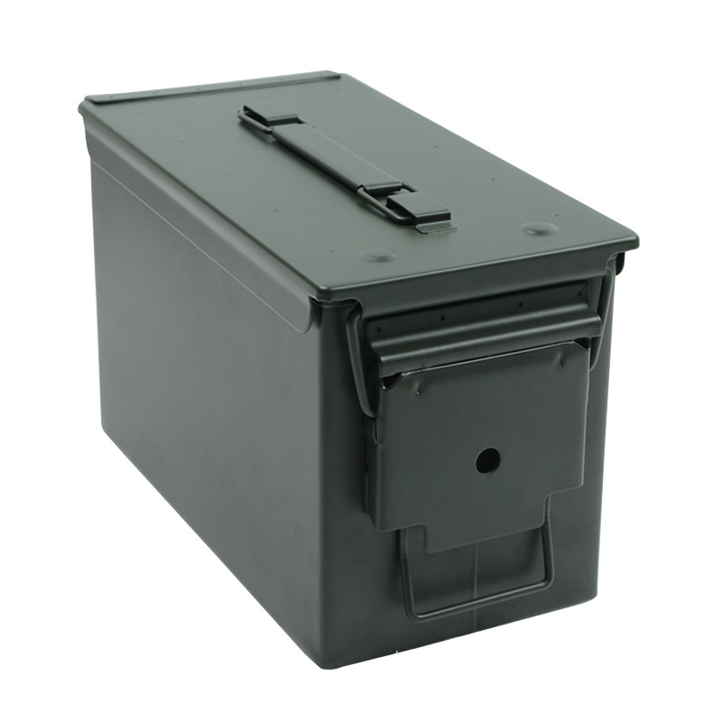 50 Cal Ammo Can Steel Ammo Box Military & Army Solid Tactical Waterproof Holder Box For Long-Term Bullet Valuables Storage