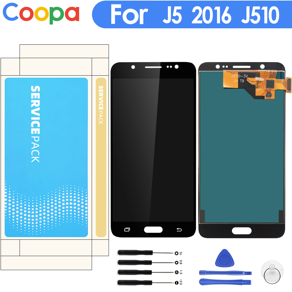 Brightness Adjustbale LCD For Samsung Galaxy  J5 2016 SM-J510F J510FN J510M  J510 LCD Display+Touch Screen Digitizer Assembly