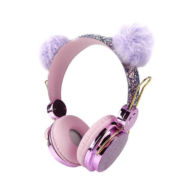 3 5 mm Cute Headphones - Over Ear Wired Girls Kids 1 2m Length Cable 85dB Volume Wired Noise Canceling Headphone