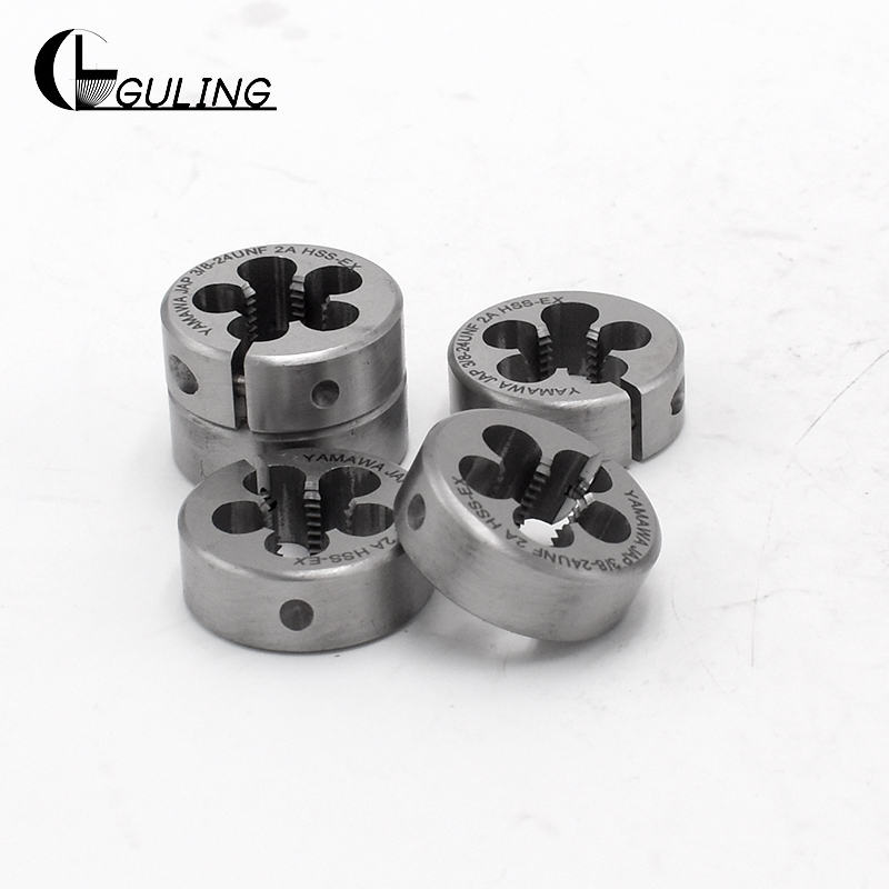 GULING Round Metric Thread Die Tap Size M1-M20 HSSE Round Threading Dies Tool For Machining Or Eorrecting External Threads