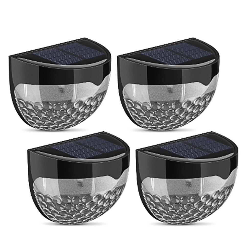 4pcs Solar 6 LED Light Garden Lights Outdoor Waterproof Fence Yard Wall Lamp Auto Sensor Intelligent Lamps Lighting Wireless