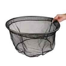 Dia.40 см, складная рыболовная сачок, ручная рама из нержавеющей стали, маленькие сетчатые сети для 8 мм, винтовые рыболовные аксессуары, снасти