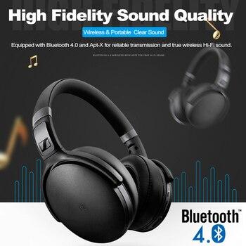 Sennheiser HD 4.40BT Wireless Bluetooth Headphones Over-ear Hi-Fi Headset Sport Bass Music Gaming Earphones Foldable with Mic Electronics Wireless Earphones