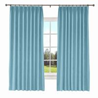Kante Pinch Pleat Solid Polyester Cotton Curtain Window Drapery 34 Colors (1 Panel) ChadMade Blackout Curtains for the Bedroom