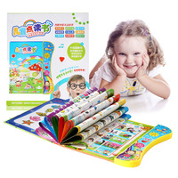 1 Children Point Reading Machine CHILDREN'S 0 3 6 Years Old Baby Voiced Early Education Ebook Learning Machine in English Readin