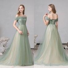 С открытыми плечами, элегантный зеленый, толстый официальный вечерние платья, выпускной вечер