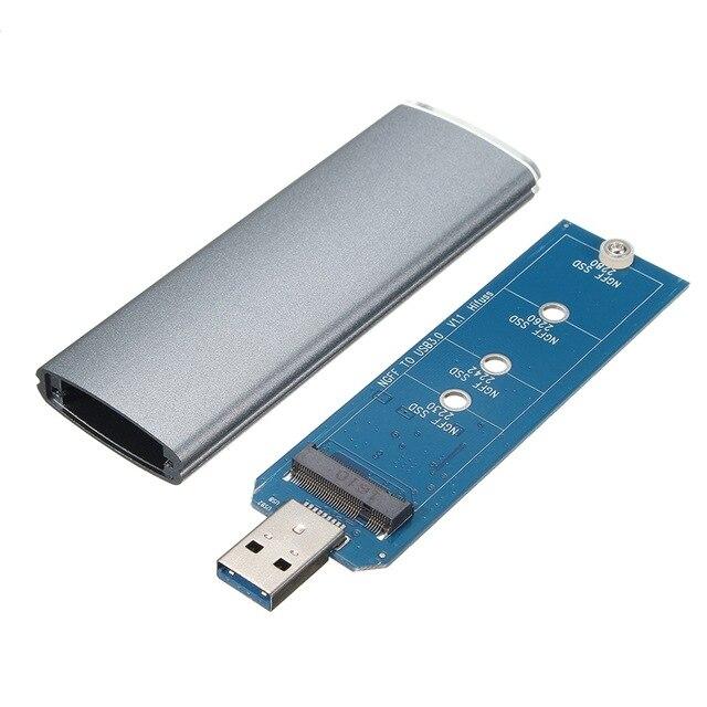 M.2 ngff ssd sata para usb 3.0 conversor adaptador caso de armazenamento gabinete externo com chave de fenda