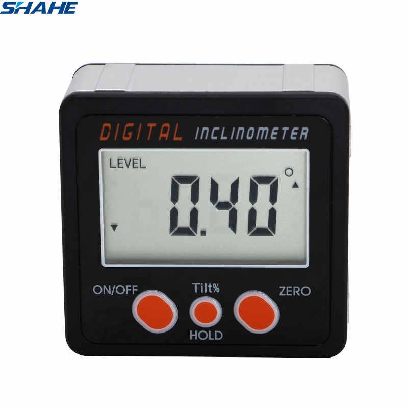 Digital Protractor Inclinometer with Aluminum enclosure Electronic Protractor Level Box Magnetic Angle Level Angle Gauge
