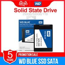 "WD Blue SSD SATA3 250 ГБ 500 1 ТБ 2 ТБ Western Digital SATA3 SSD 2,"" твердотельный накопитель на жестком диске 250G для ноутбука ПК"
