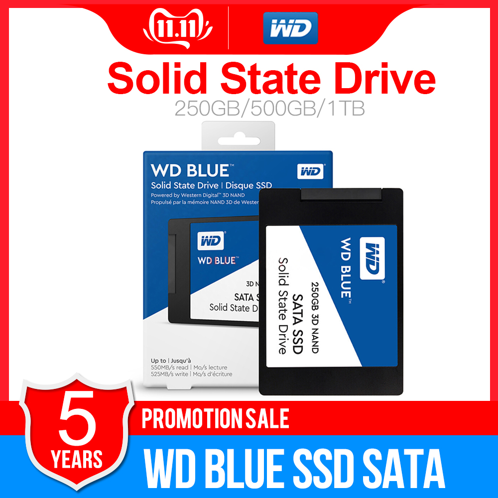 WD Blue SSD SATA3 250GB 500GB 1TB 2TB Western Digital SATA3 SSD 2.5