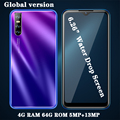 7A Globale version Android Handys 4GB RAM 64G ROM Gesicht ID Entsperrt Celulares Smartphones 6.26