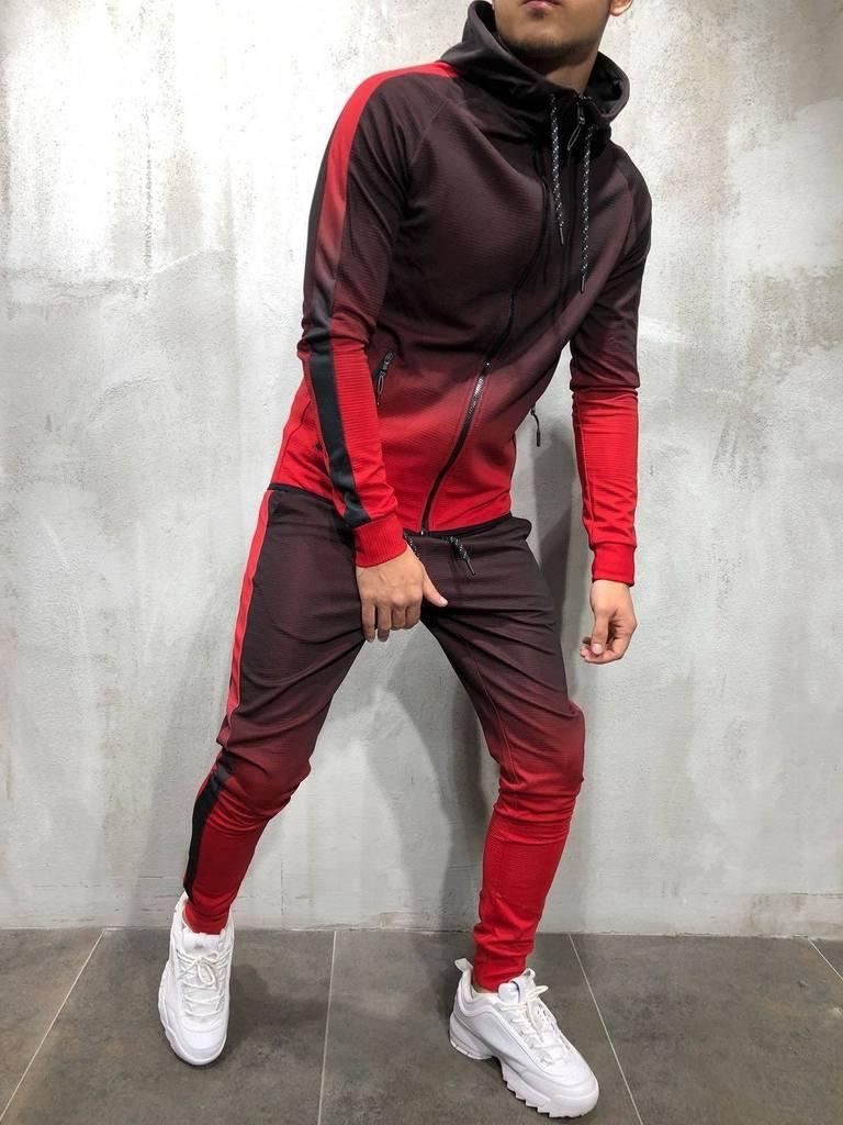Homens Da Moda Jaqueta de Impressao Gradiente  1