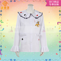 Anime Pluto the Pup Shirt Cosplay Costume Mickey Pet Pluto Cos White Long Sleeves Shirt H