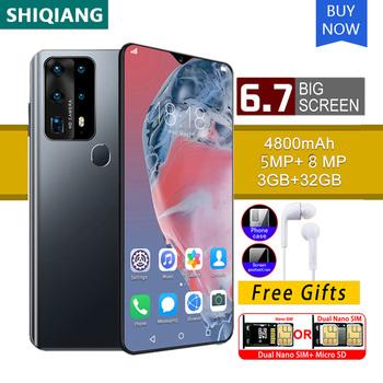 SOYES P40 Pro 6 7 calowe telefony komórkowe telefony komórkowe z systemem Android 3GB RAM 32GB ROM wersja globalna smartfony 4800mAh telefon komórkowy tanie i dobre opinie Nie odpinany CN (pochodzenie) Rozpoznawania linii papilarnych Rozpoznawania twarzy Do 200 godzin Nonsupport Pojemnościowy ekran