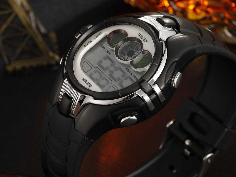 Reloj deportivo OHSEN de moda para exteriores, relojes multifunción para hombre, reloj despertador Digital LED resistente al agua, reloj de regalo para niños, reloj para hombre 0739