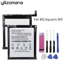 Yilizomana oryginalna bateria do telefonu 3120 do BQ Aquaris M5 wysokiej jakości akumulatorki zamienne o dużej pojemności 3120mAh