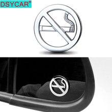 DSYCAR – autocollants de voiture en métal chromé, 1 pièce, Badge de signalisation publique anti-fumée, pour entreprises, hôtel, bureau, véhicules, style automobile