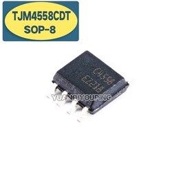 10 шт., TJM4558CDT SOP8 TJM4558 SOP C4558 SMD SOP-8, новый и оригинальный IC