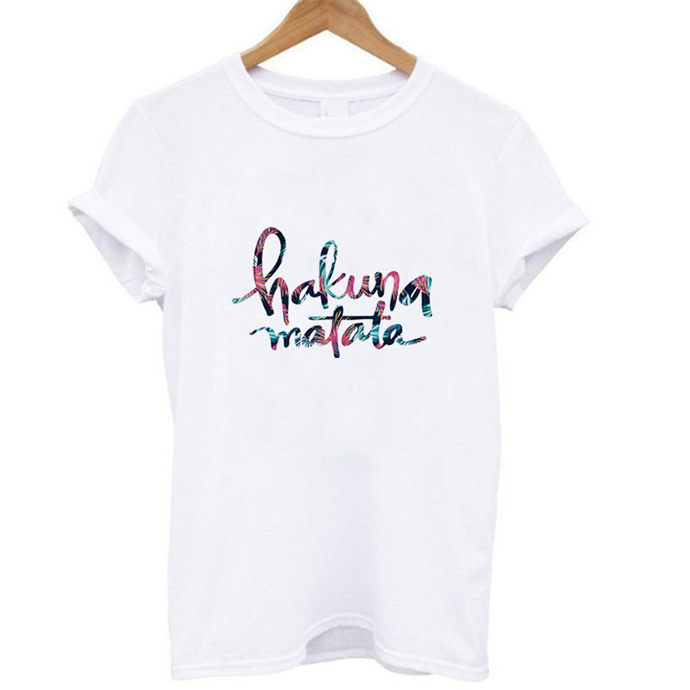 Hakuna Matata Summer T-shirt Lion King Cartoon Printed T Shirt Women Fashion Casual Harajuku Tshirt Female Graphic Cute Tee Tops
