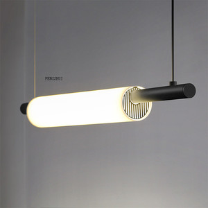 Image 4 - נורדי LED ברזל אמנות מים צינור תליון אורות תאורה הפוסטמודרנית לופט סלון ארוחת בר מנורת חדר שינה בר דקו אור גופי