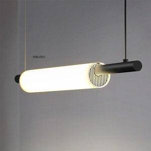 Image 4 - Nordic LED Iron Art Water Pipe Pendant Lights Lighting Postmodern Loft Living Room Meal Bar Lamp Bedroom Bar Deco Light Fixtures
