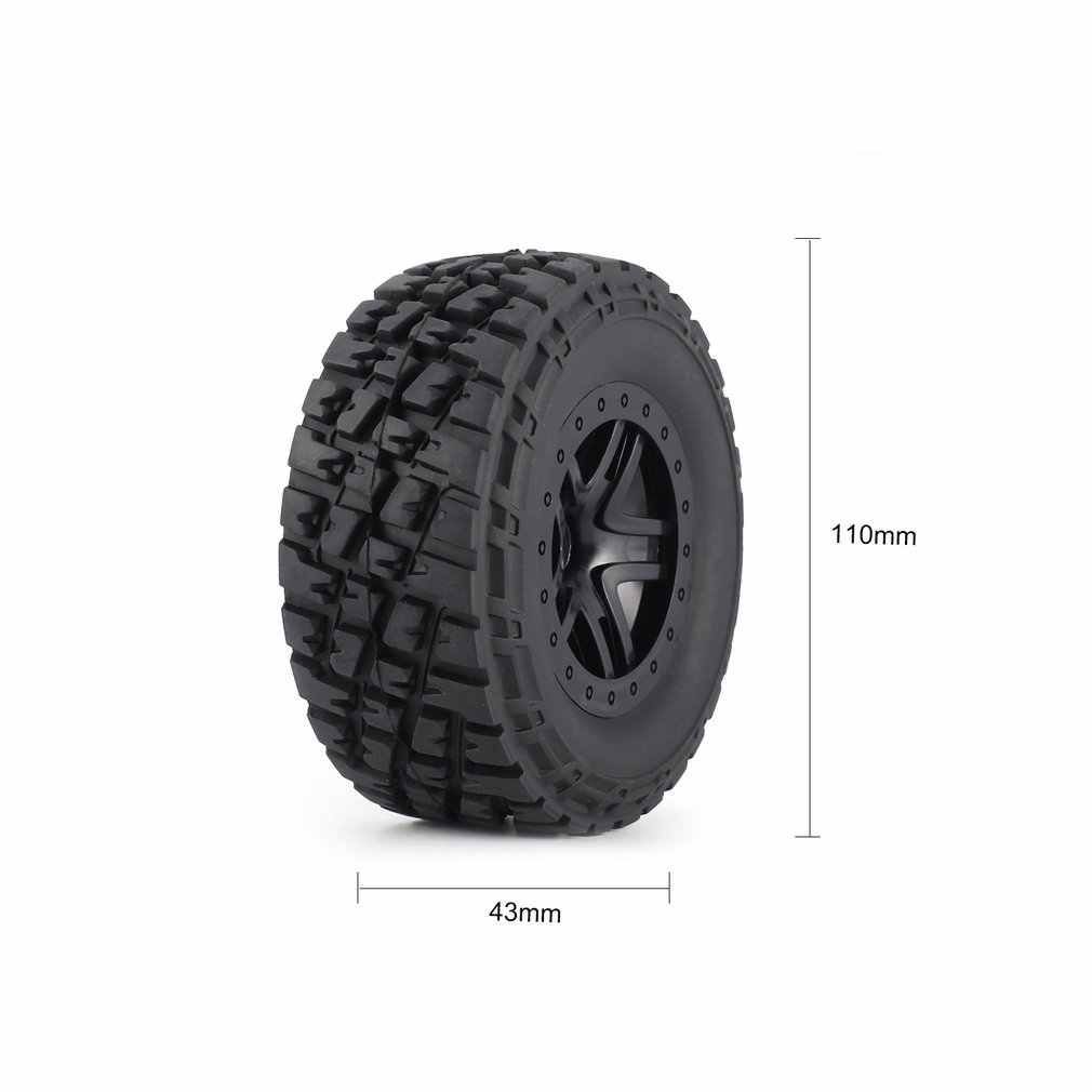 4pcs AUSTAR 110mm Velg Rubber Tyre Wheel Set Kit Onderdelen Accessoires voor Traxxas Slash 4X4 RC4WD HPI HSP Crawler Auto Model