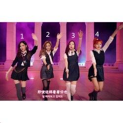 Kpop Blackpink Jisoo gleiche 2019 neue Frauen bühne zeigen t shirt und rock zwei stück set koreanische streetwear top und rock 2 stück set