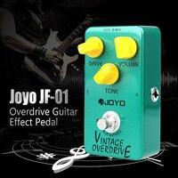 Joyo JF 01 Guitar Effect Pedal Vintage Overdrive Electric Guitar Pedal True Bypass Low Noise Pedal Guitar Parts Accessories