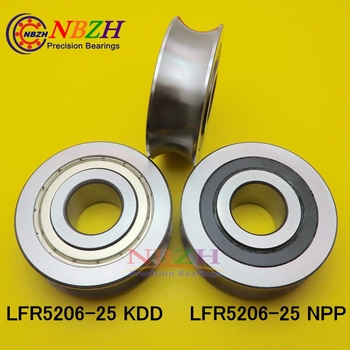 Z 25 MM track LFR5206-25 NPP LFR5206 KDD R5206-25 2RS Groove Track Roller Bearings 25*72*23.8 mm (Precision double row balls)