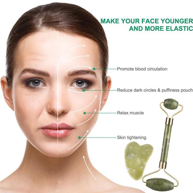 Jade Massager Fashion Anti-Aging Anti Wrinkle Jade Roller Tool Natural SPA Roller Facelift Women Men Beauty