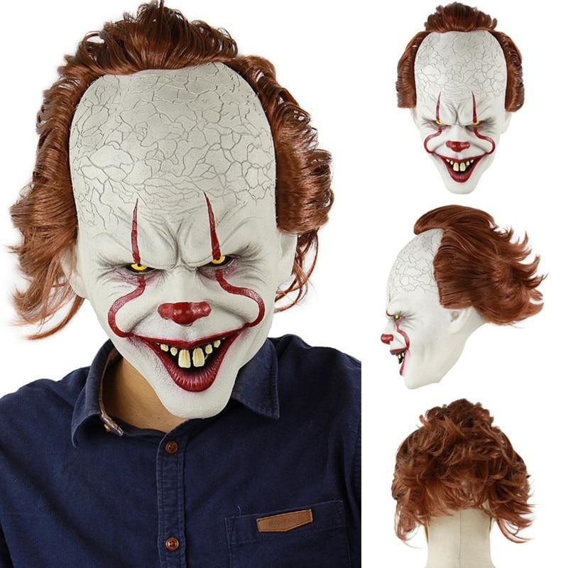Clown Mask Halloween Horror Masks Cosplay Stephen King's It Pennywise Joker Scary Mascaras De Latex Realista Maske Costume Props