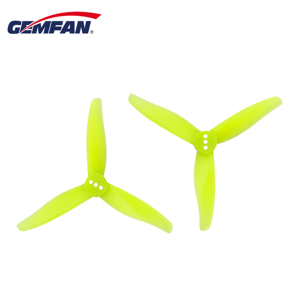 12Pairs 24PCS  GEMFAN 3016 3 Inch 3-blade PC Propeller 1.5mm/2mm Hole For RC Drone FPV Racing