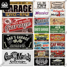 Putuo Decor Garage Licenses Plate Plaque Metal Tin Sign Decorative Car Plate for Living Room Door Club Garage Wall Decoration