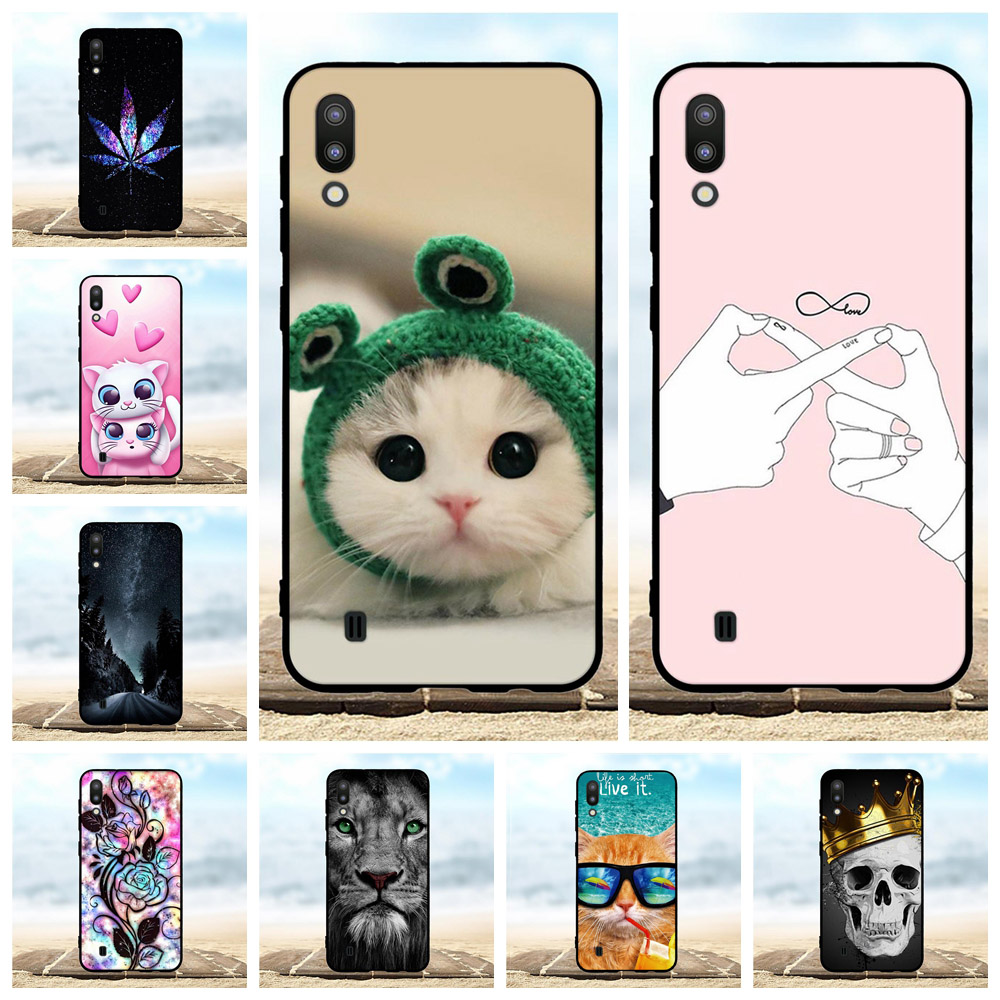 For Samsung Galaxy M10 Case Soft TPU Silicone For Samsung Galaxy M10 M105F Cover Cartoon Patterned For Samsung Galaxy M10 Shell