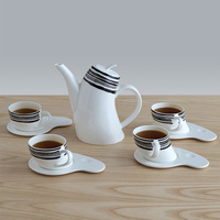 Royal Bone China Tea Cups and Saucer Sets Creative Ceramic Coffee Cup Set of 9 Cute Mugs Tazas De Cafe Home Teaware AC50BD