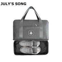 Julysong s canção saco de viagem portátil duffle à prova dwaterproof água multifuncional seco molhado separação saco de armazenamento viagem duffle transporte da gotaBolsas para viagem