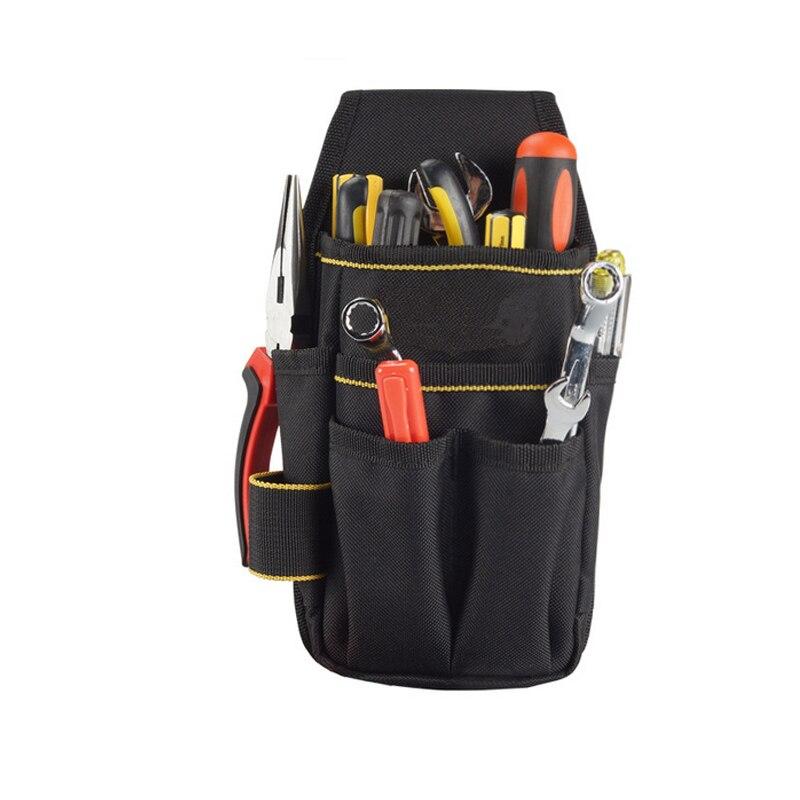 Electricians Technician Tool Bag 600D Oxford Tool Belt Waist Pocket Pouch Small Tool Bag With Belt Screwdriver Holder