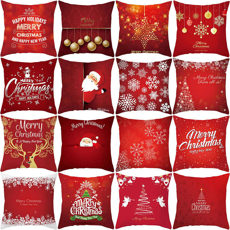 Merry Christmas Pillow Case Santa Claus Christmas Decorations for Home Navidad 2019 Christmas Ornaments Gift Happy New Year 2020