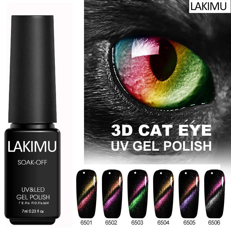 Lakimu Magnet Cat Eyes Uv Gel Cat Kuku Gel Varnish Hybrid Gellak Gelpolish Semi Permanen Tinta Beruntung Lacquer Gel Kuku bahasa Polandia