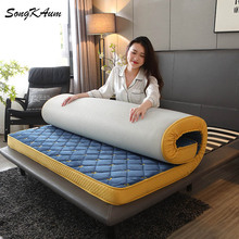 Tatami Foldable Mattresses Memory-Foam Velvet Thicken Warm Keep Songkaum Crystal Embroidered