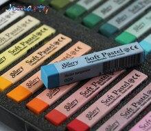 12/24/36/48 cores pastéis macios desenho conjunto de arte conjunto de crayon macio cabelo giz cores do cabelo arte escola suprimentos ass043