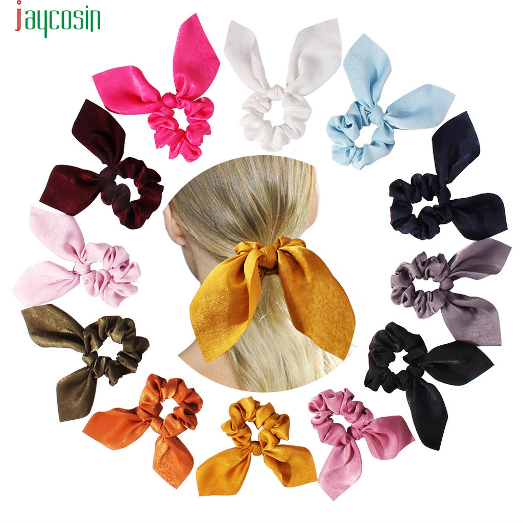 JAYCOSIN Women's Elastic Hair Bands Ribbon Fashion Hairbands Ladies Sweet Hair Ring Casual Headwear Sombreros Femeninos New