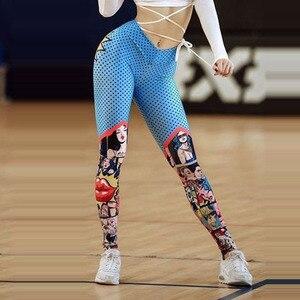Image 4 - Pop!2020 New Women Funny Cartoon Leggings Female High Waist Printing Pant Leggings Sexy Fitness Sports Pants Workout Leggings