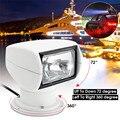 Smuxi Scheinwerfer 12V 100W 2500LM 3200K Marine Suchscheinwerfer Glühbirne PC + Aluminium Fernbedienung Multi-abgewinkelt Weiß