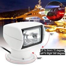 Smuxi spotlight 12v 100w 2500lm 3200k marinha holofote lâmpada pc + alumínio controle remoto multi-ângulo branco