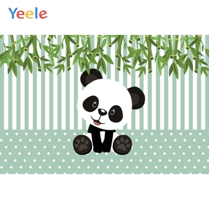 Image 5 - Yeele Cartoon Panda Polka Dots Baby Birthday Party Backgrounds For Photography Customized Photographic Backdrop for Photo Studio