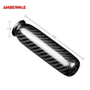 Image 5 - Ambermiles أغطية مقابض فرامل اليد الداخلية للسيارة ، ألياف الكربون لميني كوبر ، R55 ، Clubman R56 ، R57 ، R58 ، R59 ، R50 ، R53 ، الملحقات