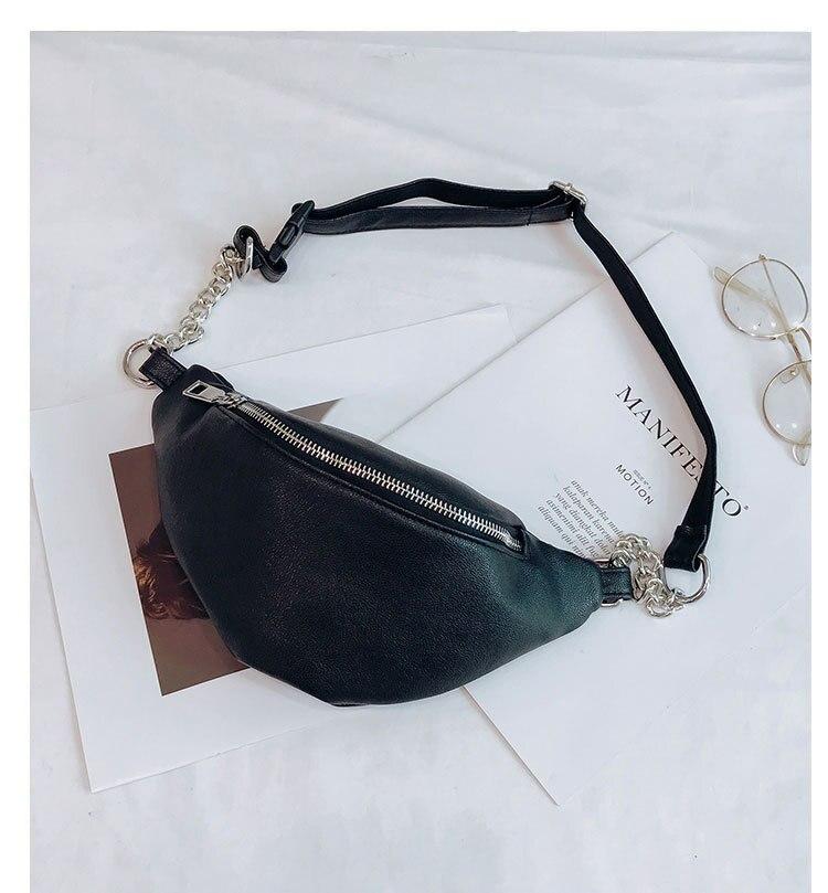 2020 New Jiulin Womens Waist Bag Fanny Pack PU Bags Belt Purse Small Purse Phone Key Pouch White Black Waist Packs Black Mini
