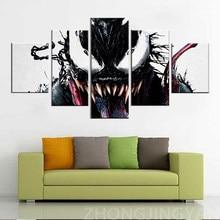 Leinwand Malerei 5 Stück HD Druck Große Venom Comics Poster Malerei Leinwand Wand Kunst Bild Moderne Dekoration Wohnzimmer